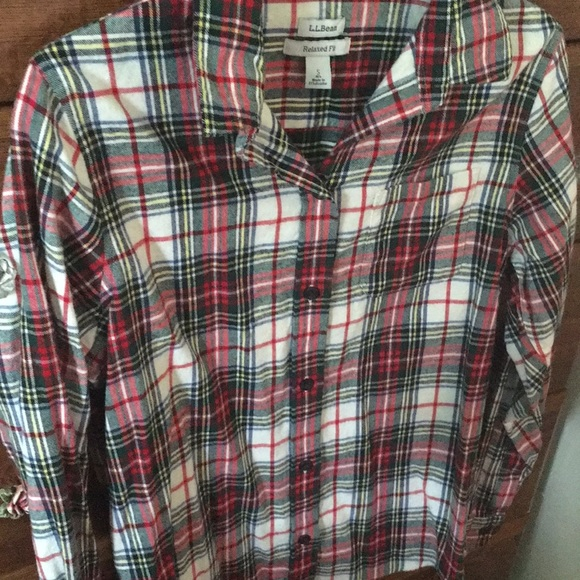 1b5f8b5ec65 L.L. Bean Tops | Nwot Llbean Scotch Plaid Flannel | Poshmark